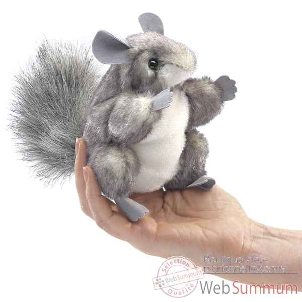 Marionnette a doigt chinchilla Folkmanis -2759 -1