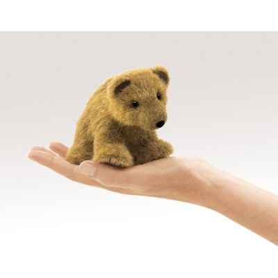 Marionnette a doigt mini peluche ours grizzly folkmanis 2739