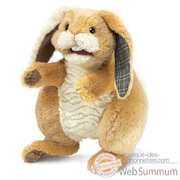 Marionnette Peluche Lapin Patchwork Folkmanis -2948 -2