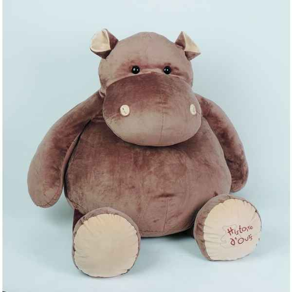 peluche hippopotame hyper g ant histoire d 39 ours 120cm ho dans animaux de la savane. Black Bedroom Furniture Sets. Home Design Ideas