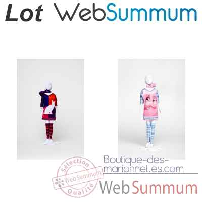 lot Atelier creatif stylisme et mode Sally chat et chihuawa -LWS-336