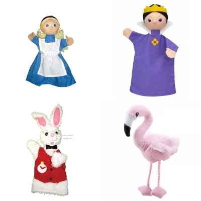 Alice Aux Pays Des Merveilles Images lot 4 marionnettes à main tissus alice au pays des merveilles de