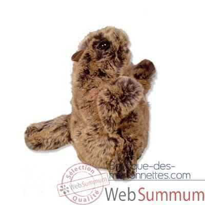 Marionnettes peluche a main - Fabrication France -Marmotte