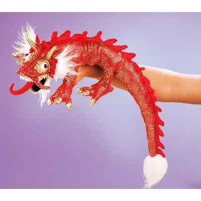 Video Marionnette peluche, petit dragon rouge -2357