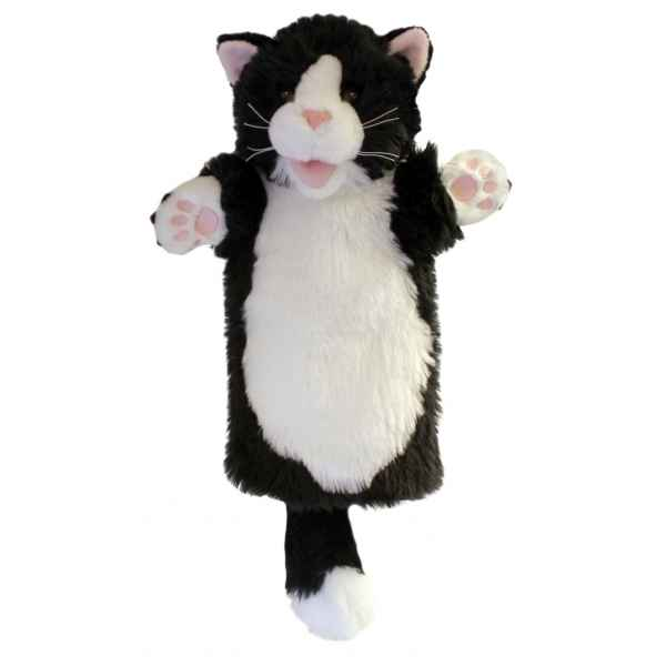 grande marionnette peluche main chat noir et blanc 26003 de the puppet company dans grand. Black Bedroom Furniture Sets. Home Design Ideas