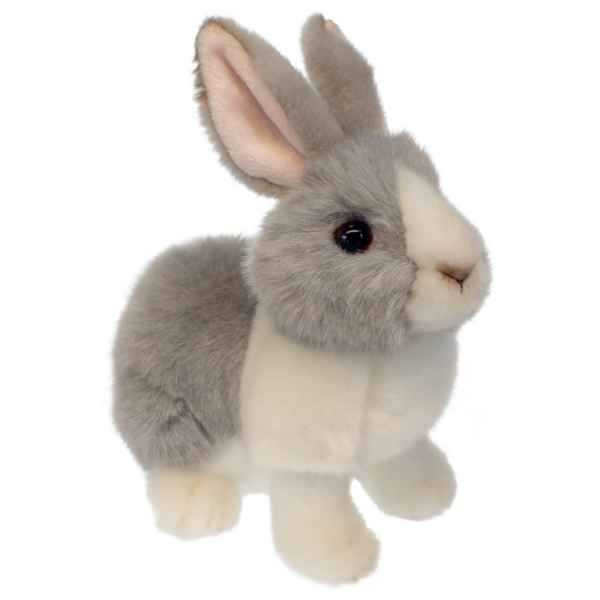 Lapin (gris et blanc) peluche wilberry -wb001203