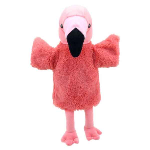 Marionnette peluche animaux flamand rose the puppet company -PC004631