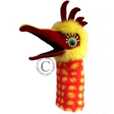 Oiseau chuckle jaune et orange the puppet company -pc006301